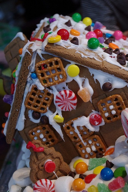 Gingerbread House decorated by a 2 year Old, 4 year old, and 5 year old. Masterpiece.