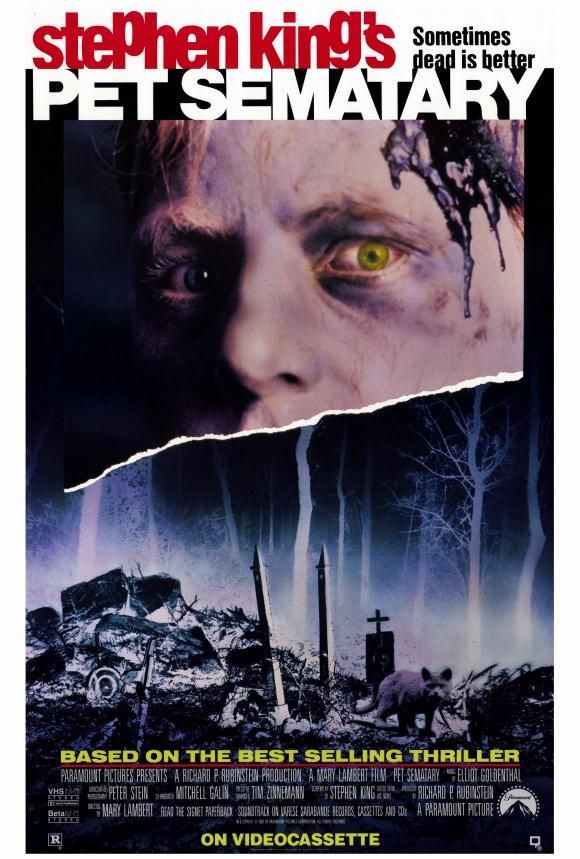 Pet Sematary 27x40 Movie Poster 1989 Pet Sematary Stephen King Movies Kings Movie