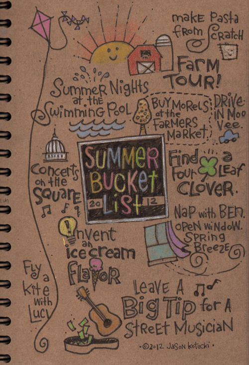 Cute Idea - Use this as a starting point for random summer activites you don't want to forget you did...Escape Adulthood with Kim & Jason » Bucket List, Summer Edition