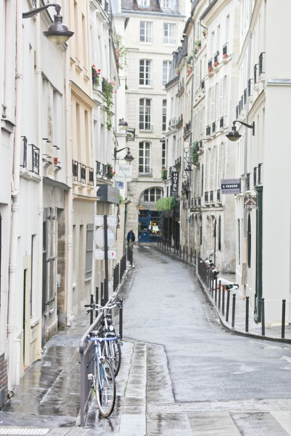 Paris streets in white