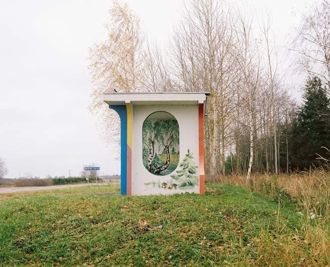 The bus stops in Belarus are so beautiful they should be in a museum