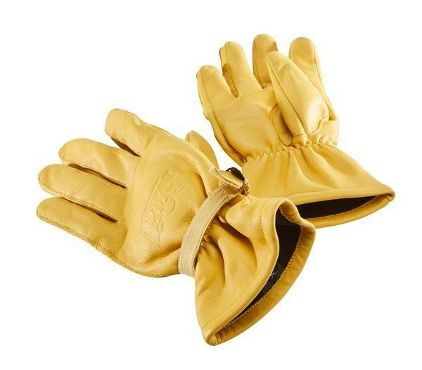 """ROKKER motorcycle gloves """"California Insulation"""" - yellow cowhide leather."""