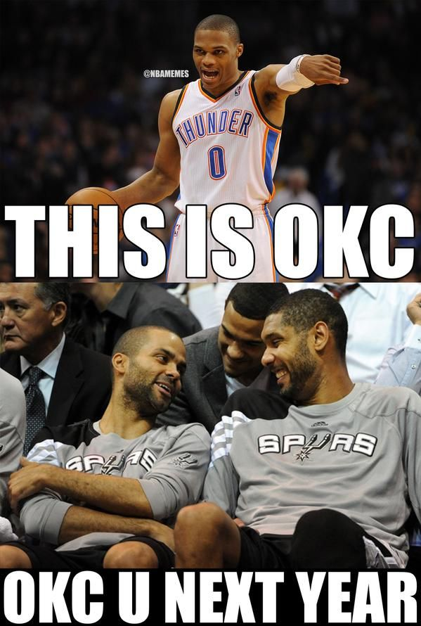 Tim Duncan & Tony Parker to Russell Westbrook & the - http://nbafunnymeme.com/nba-memes/tim-duncan-tony-parker-to-russell-westbrook-the