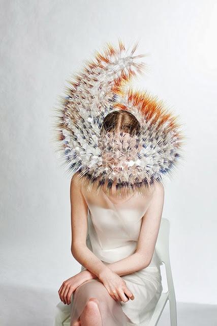 Headpieces by: Maiko Takeda #inspiration #style #Bjork http://stylistdiva.blogspot.com/2013/06/bjork-maiko-takeda.html