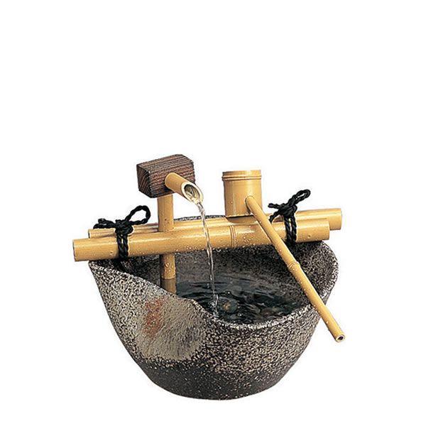 【楽天市場】陶器つくばい せせらぎ 8号【fountain】【ファウンテン 泉 噴水 坪庭 和庭 屋内 ガーデン ガーデニング】【RCP】【02P30May15】:Garden75 楽天市場店