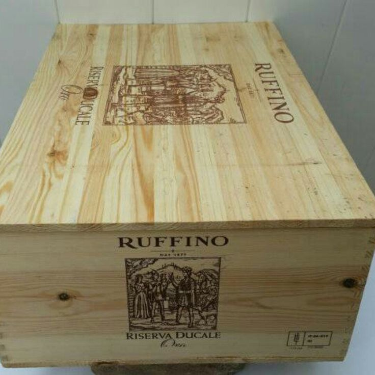 Just listed Ruffino wine crate, great condition for reuse!