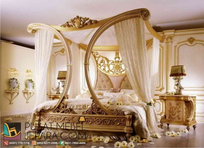tempat-tidur-kanopi-luxury-and-classy-wooden