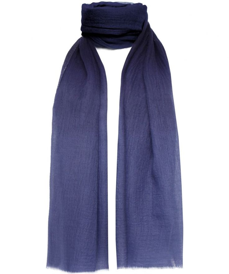 Accessorise-up with the ultra-feminine Me & Kashmiere denim border scarf. Beautifully crafted from a delicate and lightweight cashmere blend, the versatile accessory features a contemporary denim trim and fraying to the hemline.