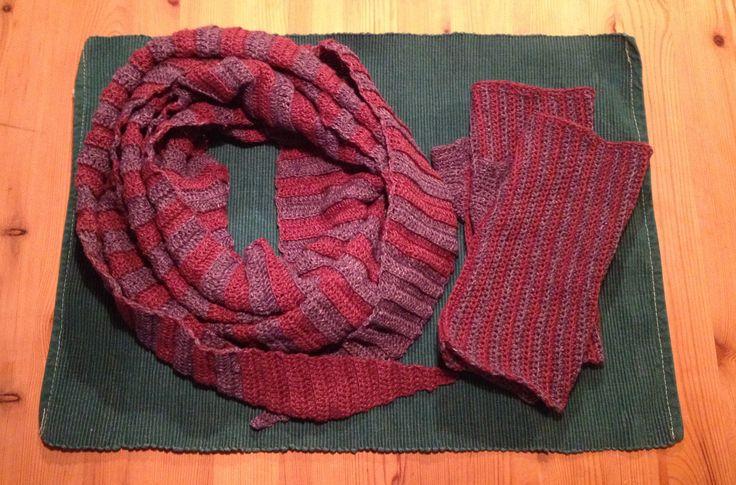 Halstørklæde og pulsvarmere
