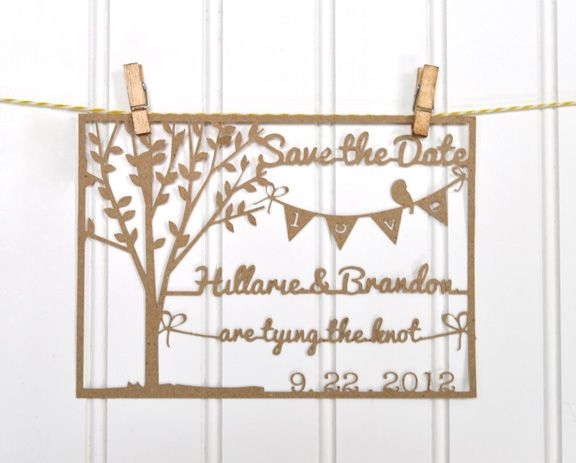 Silhouette Blog: tutorials  Save the Date Project.... would be really cute for an anniversary gift too!