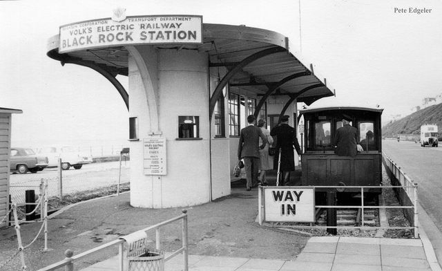 Archive photograph of Volks Electric Railway, Brighton, Black Rock Station (the oldest electric railway in the world, opened in 1883)
