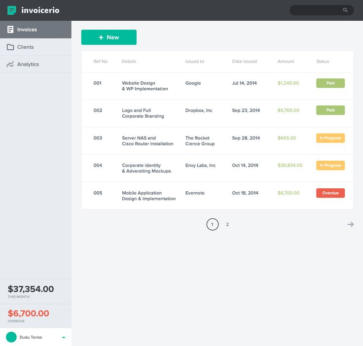 Invoicerio-invoice-dashboard-02 Web Dashboard and Management - web invoice