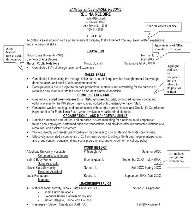 sample resume skills based resume
