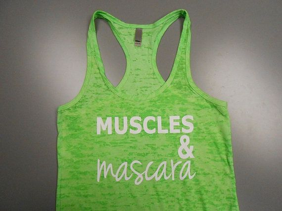 Womens Racerback Burnout Tank Top. Muscles by StrongGirlClothing, $21.99