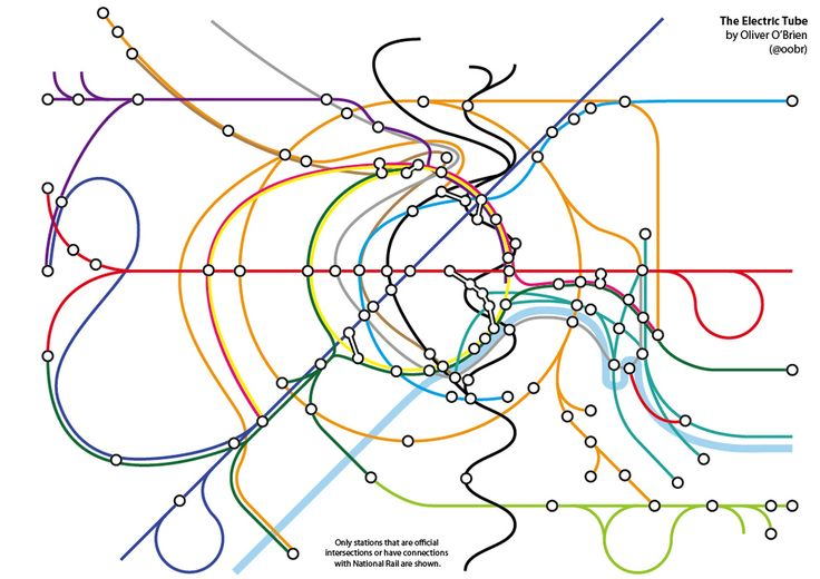 The orbital railway - plotting the Tube, rail and DLR, tram, and cable car line onto a topologically accurate map. | 17 London Underground Maps You Never Knew YouNeeded