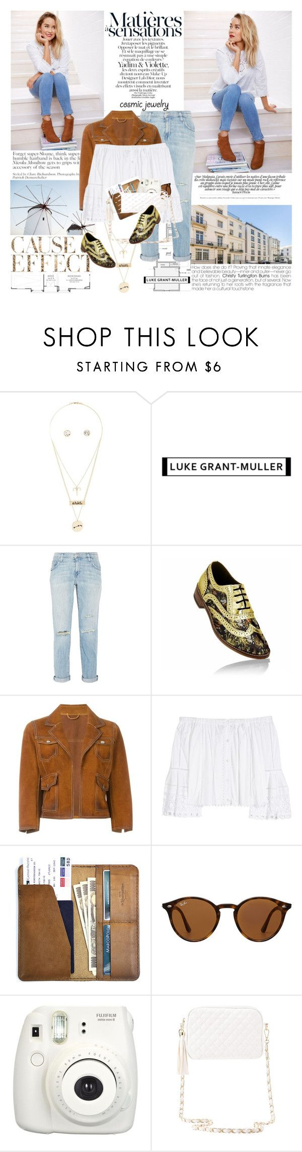 """""""What's Your Sign: Cosmic Jewelry   Aries {coupon code in description}"""" by mars ❤ liked on Polyvore featuring Charlotte Russe, Envi:, Current/Elliott, Dsquared2, Carolina Herrera, CO, Ray-Ban and Fujifilm"""