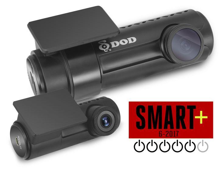 """DOD RC500S gjør det svært godt i ny test!  SMART+ 6-2017: """"God video, brukervennlig, bakrutekamera"""", """"Det er lett å se detaljer som bilskilt, gateskilt og lignende"""", """"Fotoboksvarsler"""""""