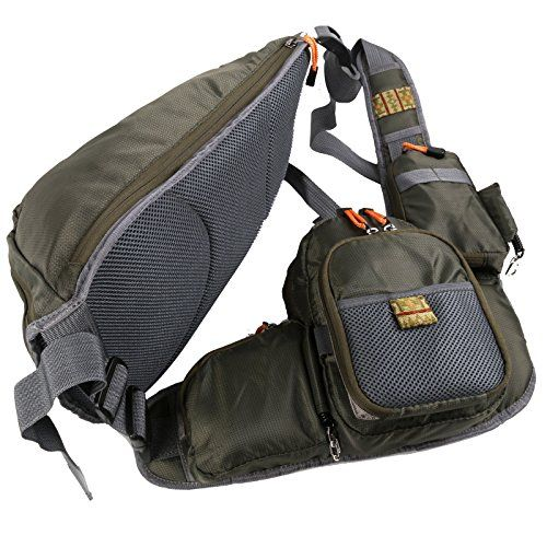 Maxcatch fly fishing sling pack adjustable backpack for Fishing sling pack