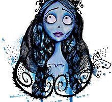 Watercolor Corpse Bride by Aleksandra Kurczewska
