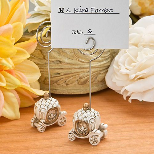 100 Cinderella Princess Fairy Tale Carriage Place Card Holders Wedding Favors