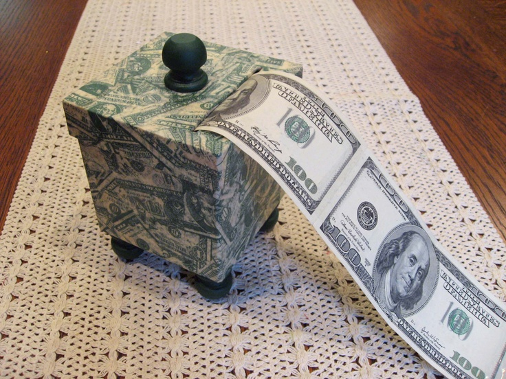 Handmade Decoupage Money Box