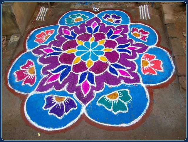 Kolams and Rangoli 2010 by Chella Vaidyanathan, via Flickr