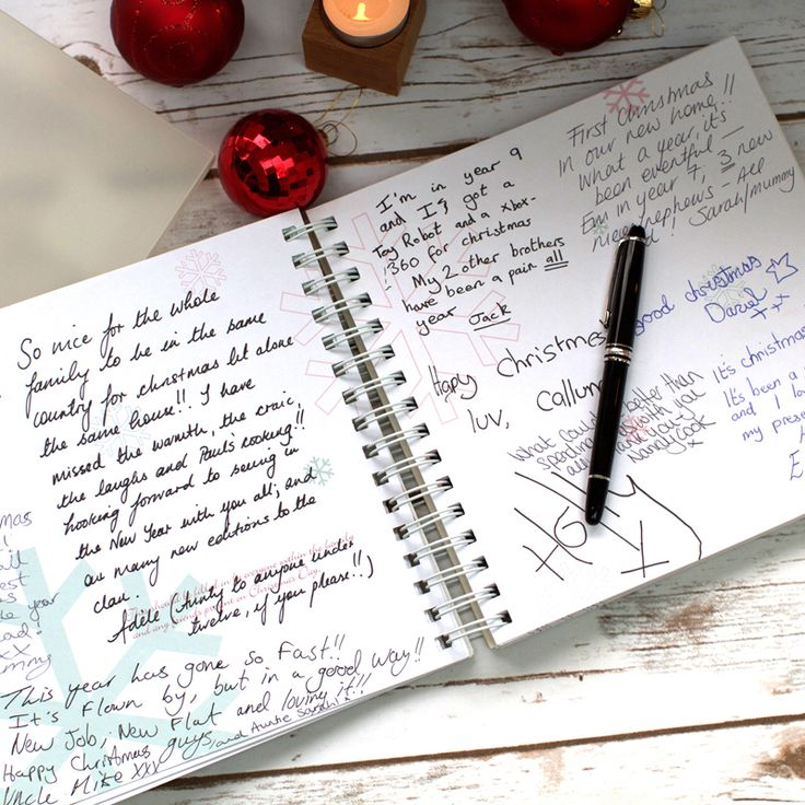 Send the book around the dinner table at Christmas and have them write a sentence or two about their year.