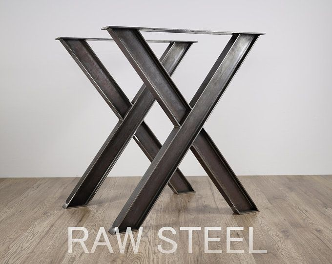 Industrial X Shape Metal Table Wrought Iron Table Legs