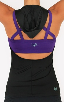 Hooded backless workout shirt (and other workout clothes that are more reasonably priced!)