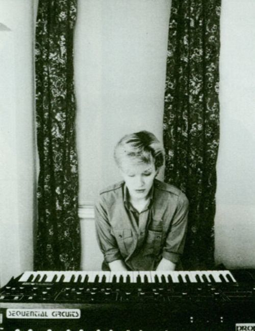 David Sylvian from Japan, with a Sequencial Circuits - Prophet 5