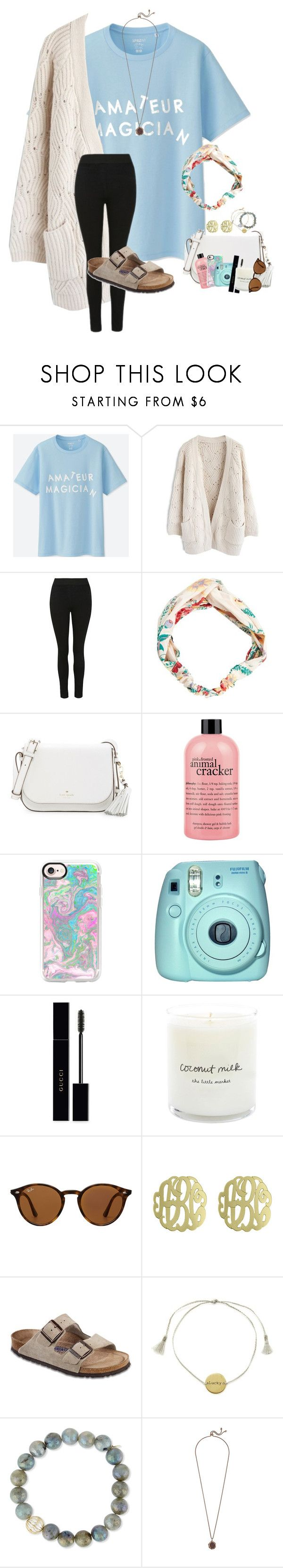 """""""~yea i meant it~"""" by taylortinsley ❤ liked on Polyvore featuring Uniqlo, Chicwish, MANGO, Kate Spade, philosophy, Casetify, Fuji, Gucci, Ray-Ban and Initial Reaction"""