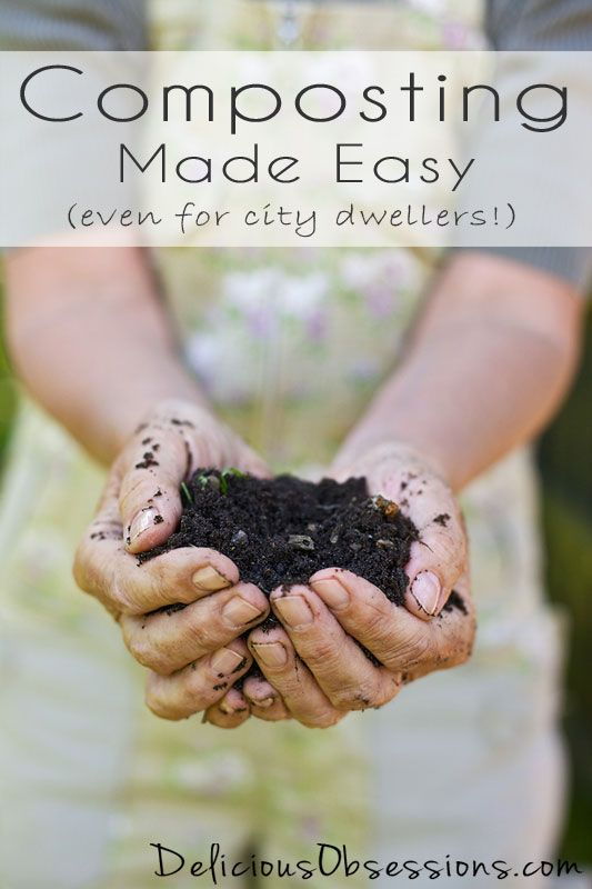 Composting Made Easy -- Even for City Dwellers // deliciousobsessions.com