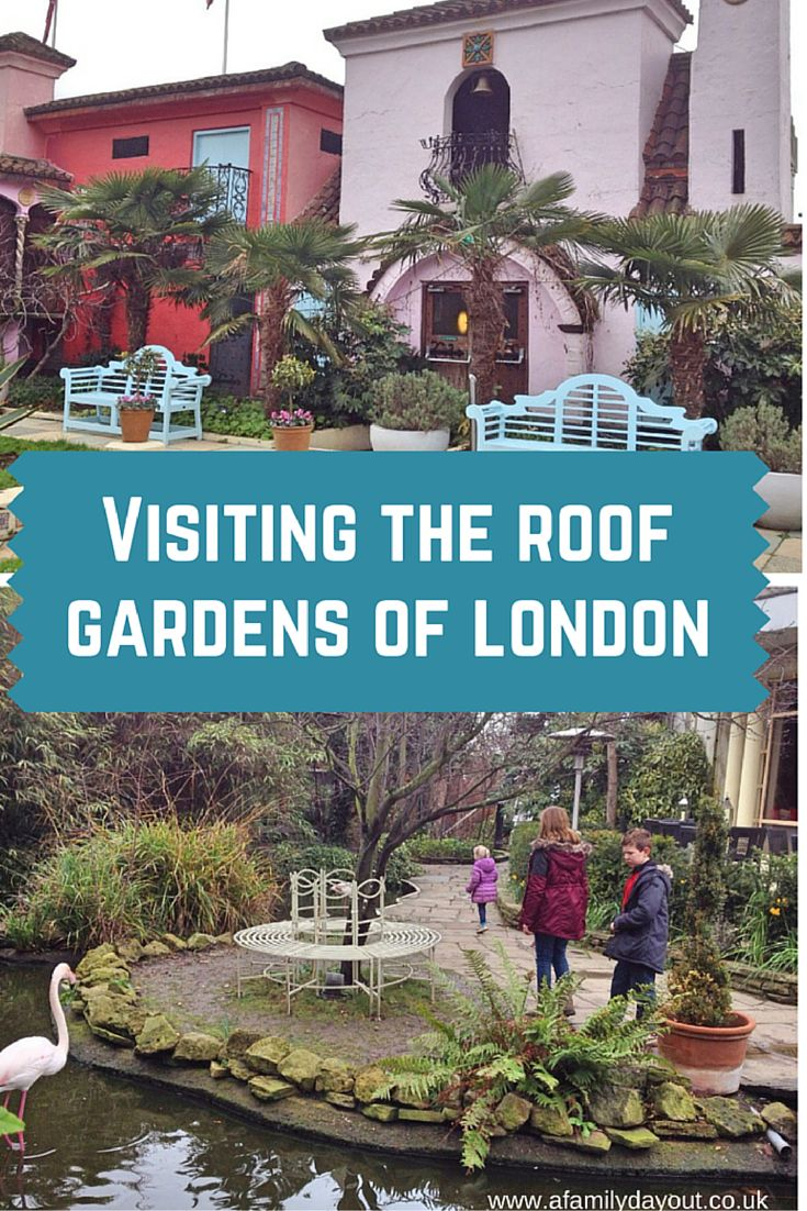 Interesting places to visit in London. The roof gardens: Walkie Talkie Sky Garden, SOAS Japanese Garden and The Roof Gardens at 99 Kensington High Street