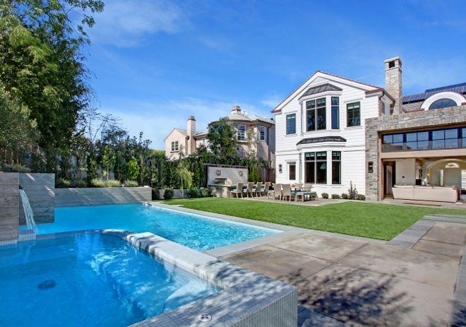 Pool spa backyard #Pool #spa #backyard Patterson Custom Homes. Interiors by Trish Steele of Churchill Design.