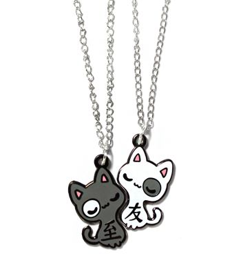 Kitty BFF necklace <3 these are so freaking cute<33333