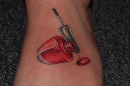 I should get a Nail polish tattoo lol.