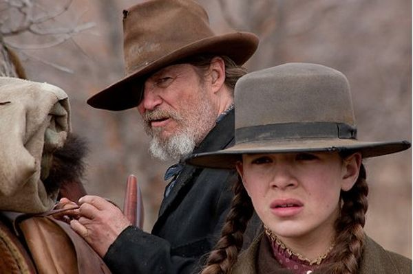 Jeff Bridges as Rooster Cogburn and Hailee Steinfeld as Mattie Ross in True Grit (2010). #movies, #actors, #actresses, #film