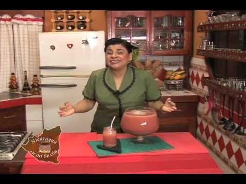 Nicaragua en mi sazon con Maria Esther Lopez - Fresco de Cebada tradicional / Barley Water