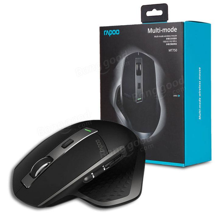 Rapoo MT750 Rechargeable Multi-mode Wireless Mouse Bluetooth 3.0/4.0 RF 2.4GHz for Four Devices Mice Sale - Banggood.com