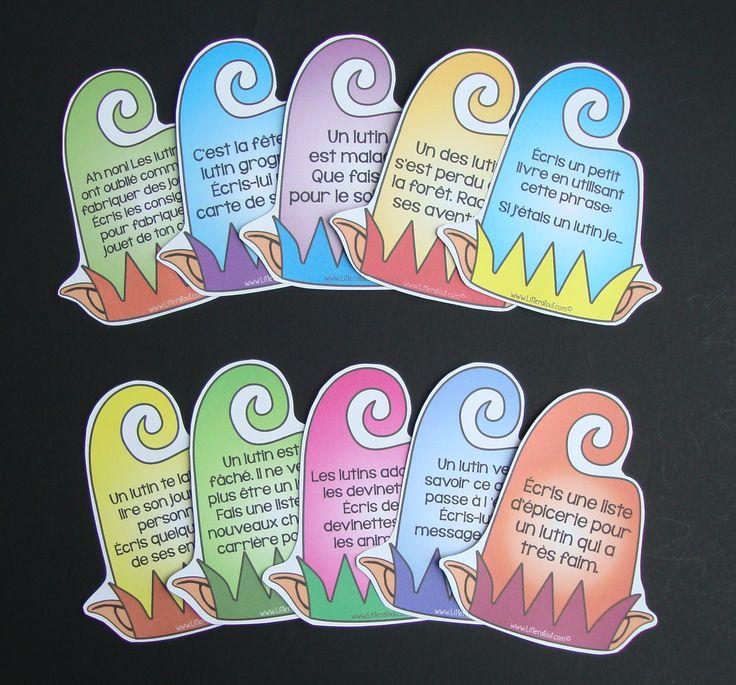 Sujets d'écriture sur le thème des lutins (6-7 ans)  Au cours de cette activité, les élèves rédigent un court texte à partir d'un sujet d'écriture de leur choix, sur le thème des lutins.