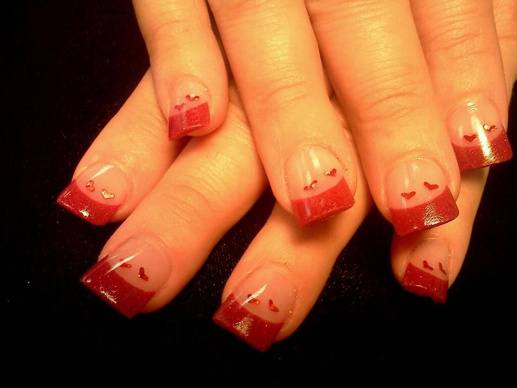 9 best valentine acrylic nail designs images on pinterest heart nails prinsesfo Images