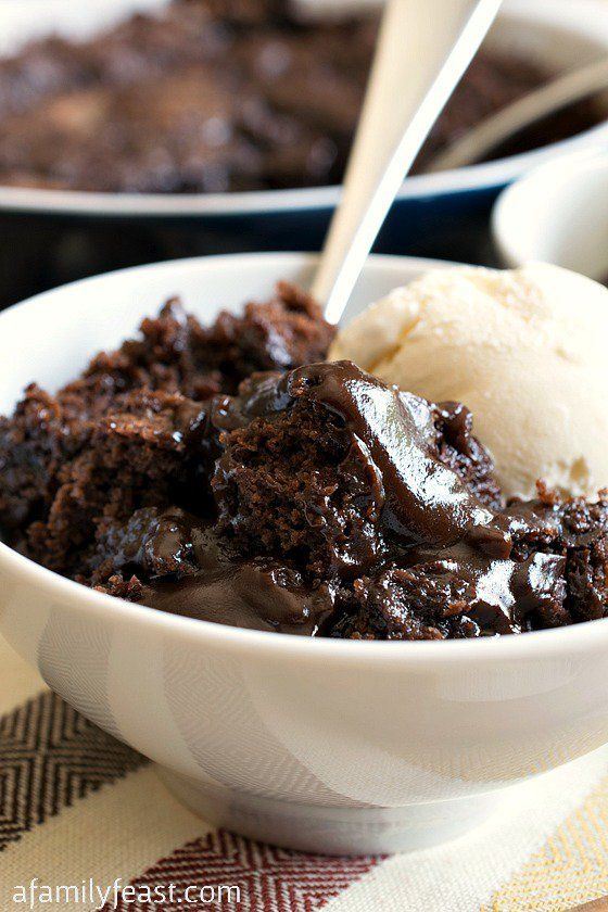 Hot Fudge Pudding Cake - A Family Feast I am going to try to make this clean!