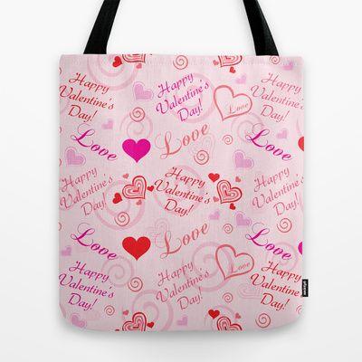 Happy Valentine's Day Tote Bag by refreshdesign !