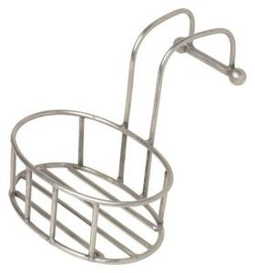 How to clean rust off metal shower caddy.  I just tried this and am honestly surprised that it worked!  I thought it would only take the soap scum off, but the rust came off too!  You need to scrub a little bit (I used an old toothbrush), but my caddy looks almost new! Keep it out of the landfills!  #ecofriendlysolutions #ecocleaning #wastereduction