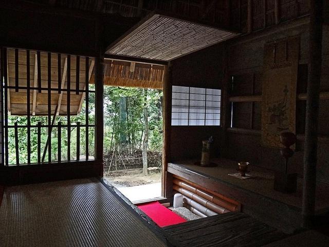 This teahouse, called Kasa-Tei, was designed by Japan's most famous tea master, Sen Rikyu - Kōdai-ji temple, Higashiyama area, Kyoto