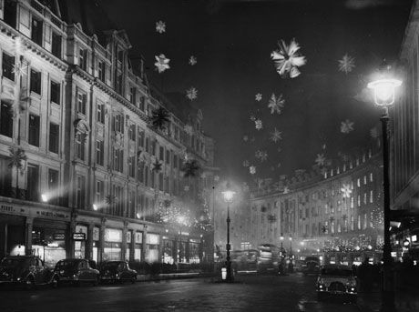 London's Christmas Lights In 1955