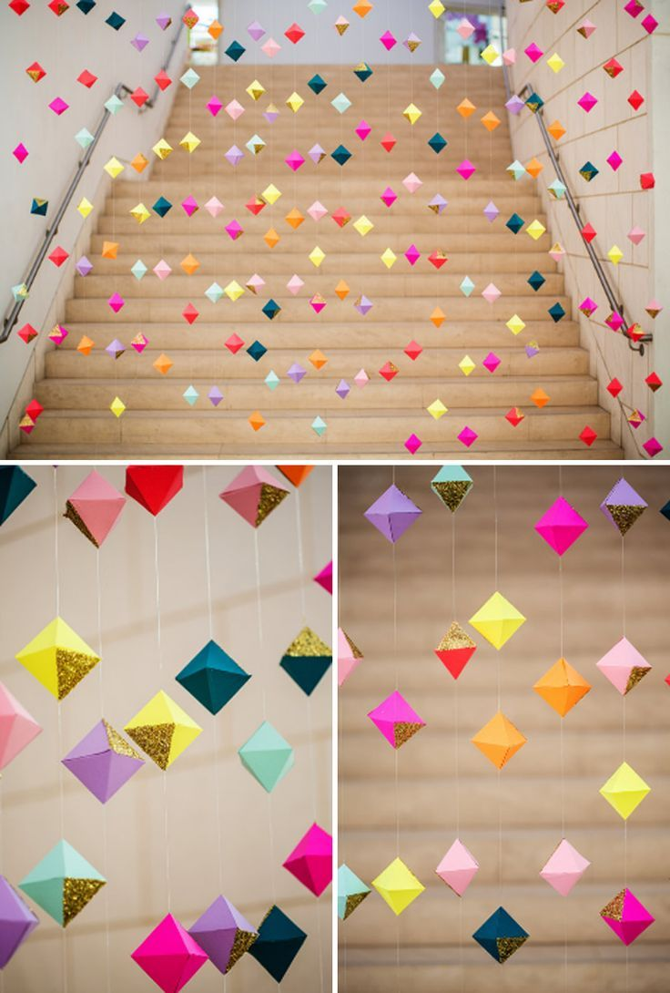 Hosting a party is a great chance to put your creativity to work! Instead of relying on party planners or pinning up the same generic decorations you use every year, impress your guests with handmade decor. Whether you're looking for a minimal or dramatic look, we've collected some gorgeous DIY backdrops that will set the scene at any celebration.