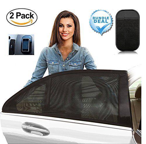 [Pack 2] Pare-Soleil pour la fenêtre latérale du Voiture – Comprend Tapis Anti Dérapage pour le tableau de bord gratuitement – Protection…