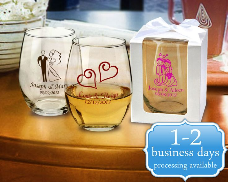 Custom Printed 9 oz Stemless Wine Glasses Bulk - From $1.04!