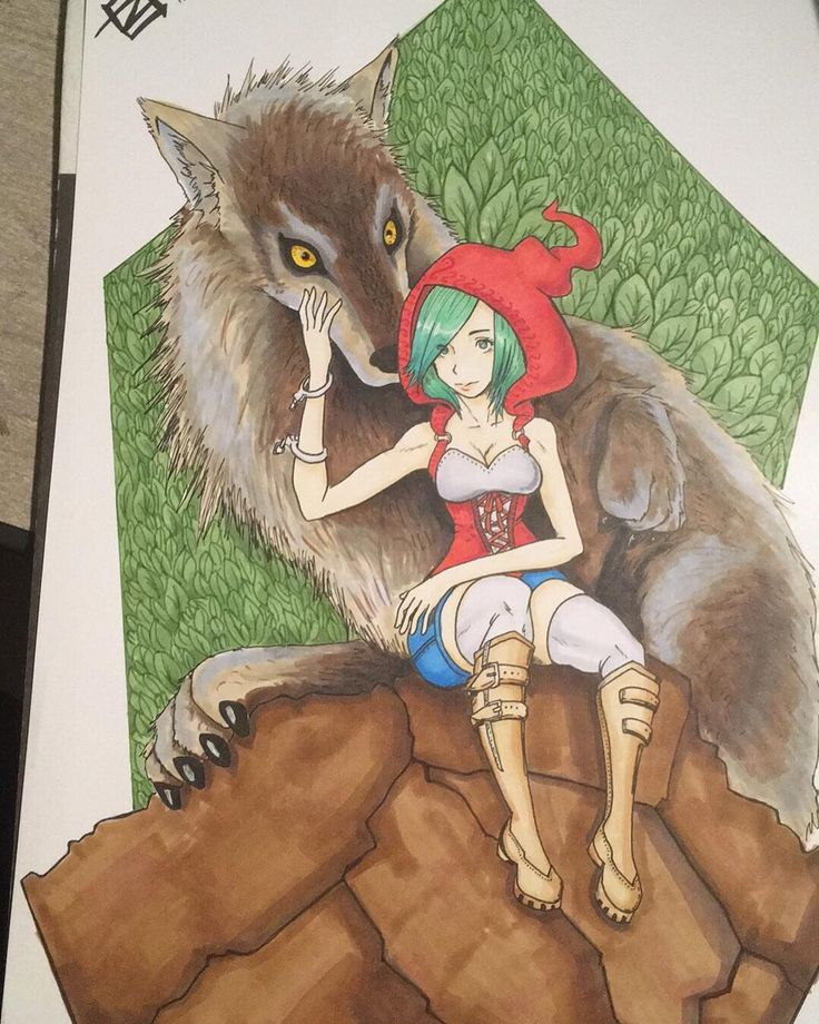 Terminado ☺️  #dibujo #dibujochileno #draw #art #arte #ilustracion #copicchile #copicciao #caperucitaroja #sketch #wolf